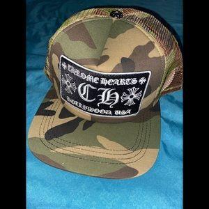 Chrome Hearts camo trucker hat